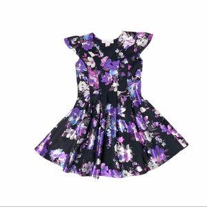 Halabaloo purple and black skater dress